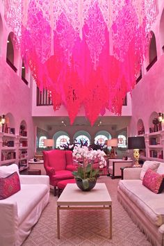 Pink interior of a sitting room at Casa Claridge's hotel in Miami | Miami's best new hotels Photo by: Matthew Buck