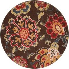 @Overstock - Woven in polypropelene, this rug features colors of coffee bean, carnelian, curry, moss, dark slate blue, parchment. This rug is the perfect addition to any home.http://www.overstock.com/Home-Garden/Woven-Blue-Kosmik-Rug-67-Round/6578123/product.html?CID=214117 $174.99
