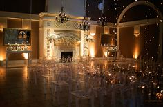 Candlelight Ceremony Hung with Chandeliers | Champagne Wishes and Botanical Dreams at Casa Amore 2014
