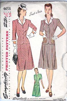 1940's Rockabilly  Women's Suit  36 Bust  by retromonkeys on Etsy, $11.40