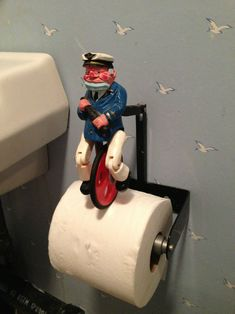 Sailor unicyclist bicycle  toilet paper holder