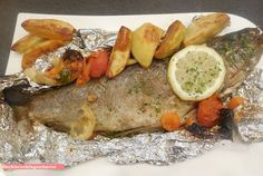 fischi`s cooking and more....: forelle in der folie...