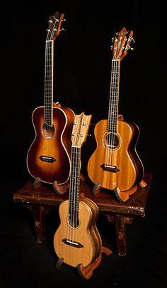 Handmade Ukulele trio, Lichty Guitars