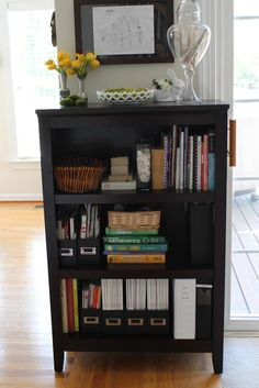 Homemade Bookshelves for the Minimalist Chic Room: Wooden Floor Black Rack Small Bookshelf White Wall ~ kvriver.com Best Ideas Inspiration