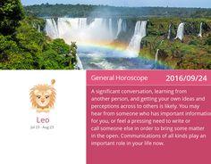 Leo horoscope for 2016/09/24. PIN/LIKE if accurate. #leo, #horoscope, #horoscopes, #astrology