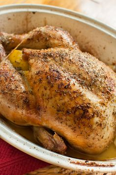 Lemon Thyme Roasted Chicken
