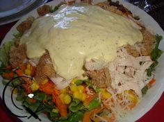 Κοτοσαλάτα! Greek Recipes, Salad Dressing, Salads, Cooking Recipes, Chicken, Meat, Breakfast, Foodies, Crafts