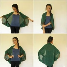 DIY: No-Sew Kimono Cover-Ups Styles) 2019 So many capsule wardrobes use scarves to add interest. You could still use it as a scarf tomorrow The post DIY: No-Sew Kimono Cover-Ups Styles) 2019 appeared first on Scarves Diy. Ways To Wear A Scarf, How To Wear Scarves, Big Scarves, Diy Kleidung, Diy Vetement, Vest Pattern, Kimono Pattern, Dubai Fashion, 1950s Fashion