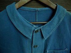 1950s-VTG-Sanforized-French-Work-Chore-Jacket-Faded-Workwear-Patched-Hobo-Visvim
