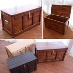 Storage Trunk, Storage Chest, Diy Bedroom Decor, Home Decor, Hope Chest, Woodworking Projects Plans, House Design, Furniture, Mesas
