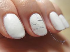White Toenail Polish Designs