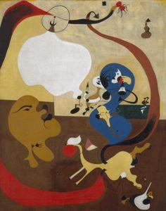 Dutch Interior II by Joan Miró via Guggenheim Museum  Size: 92x73 cm Medium: Oil on canvas