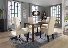 Schlichter Esstisch: klassisches Design aus Kautschukholz von CARRYHOME
