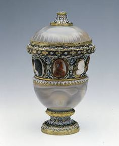 """Vaso de ágata con camafeos"", Anónimo, siglos XVI-XVII / 1680-1688"
