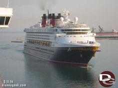 Disney Magic sailing into Civitavecchia (Rome), Italy