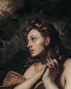 jacopo tintoretto, penitent magdalene, ca. 1598-1602 / detail (x)