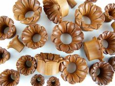 Blooming Flower Tunnel Plugs - Carved Ear Tunnel - PA15