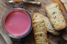 Roz Purcell's Raspberry Posset and shortbread