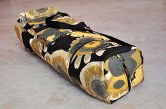 Yoga mat bag pilates mat bag  black brown tan by JoannaStanek1