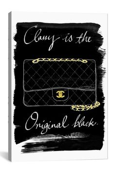 Classy Is... Canvas Print by iCanvasART on @HauteLook