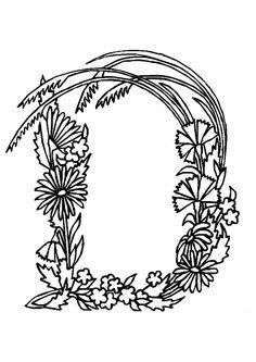 alphabet fleurs d