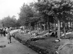 Bergen Belsen, Germany, A general view of the camp, after the liberation, April 1945.