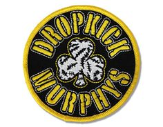 Dropkick Murphys Black & Gold - Official Patch