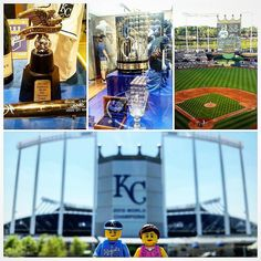 We went to our first of several KC Royals games we have planned for the year. We saw the new 2015 ALCS trophy and the old 1985 WS Trophy. The line to get our pic with the 2015 trophy was way too long; that will be in a future post for sure :) #lego #legos #love #instagramkc #legominifigures #minifigures #brickcentral #visitkc #kcroyals #legominifigure #legostagram #kansascity #legopictures #beroyalkc #picoftheday #photooftheday #toystagram #toyphotography #minifigure #legopicoftheday…