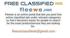 Fleewe is a leading online advertising website that promises you the best deal for whatever you want and wherever you want. So, what are you waiting for? Visit Fleewe today!
