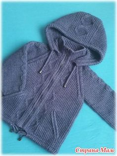 Кофта с капюшоном. Все части. - Страна Мам Crochet Potholder Patterns, Knitting Patterns Boys, Baby Boy Knitting, Knitting Designs, Baby Sewing, Baby Blanket Crochet, Crochet Baby, Knit Crochet, Crochet Girls