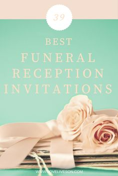 Best Funeral Reception Invitations  Reception Invitations And