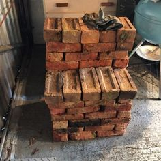Thank you Freecycle! 100 brix for nix… Really nice pavers too… #rockery101 #patio101 #mancave  (at Hampton Common)