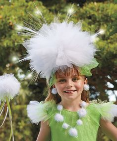 chasing fireflies Green & White Dandelion Dress-Up Set | zulily