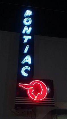 Pontiac Dealership Neon Sign