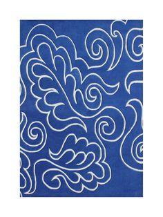 Warrendale Hand-Tufted Blue Area Rug