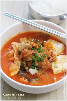 Cuisine Paradise   Singapore Food Blog   Recipes, Reviews And Travel: {Korean Cooking Project} Kimchi Tofu Soup - 김치순두부찌개