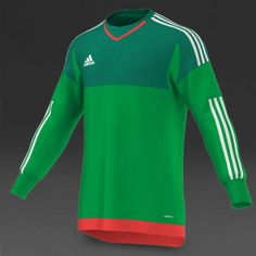 89567a9229b Adidas Men Football Goalkeeper Jersey Adizero Soccer Top Green S17936 Sz S  (3) | eBay