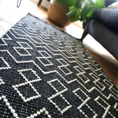 tunis runner rug in black and white close up.jpg