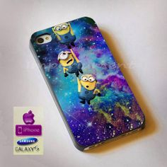minions galaxy space iphone case case samsung case by Imporiument, $13.00 I WANT THIS For my phone ❤️❤️❤️❤️