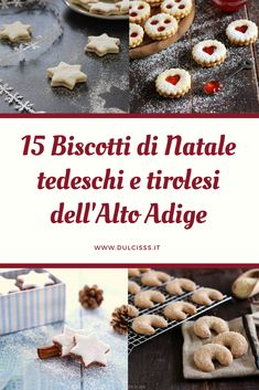 South Tyrolean German and Tyrolean Christmas cookies: the 15 most famous recipes of the most delicious biscuits that exist! Butter cookies, with jam, with almonds and hazelnuts, spiced with cinnamon. Biscotti Cookies, Famous Recipe, Summer Cookies, Cheesecake Desserts, Seasonal Food, Christmas Cooking, Breakfast Dessert, Sweet Recipes, Cookie Recipes
