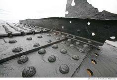 Ship rivets and plates