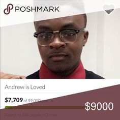 Please Support Andrew ! Hello Poshmark Fam. This week has been rough because on April 3, 2017 I lost my dear friend Andrew to suicide after being depressed for a long time. Sadly his life insurance policy did not cover his suicide and his mother is without a job so she needs any help she can get! My friend was amazing and this is a great loss. Please support in any way we can do we can lay my friend to rest! Anything can help. Thank you so much , much love - Brianna 💕 Other