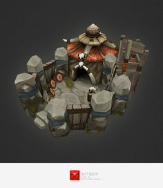 Low Poly RTS Orc Barracks - 3DOcean Item for Sale