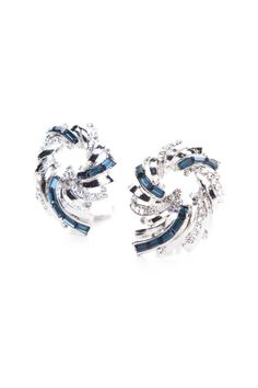 Add a touch of glam and shimmer with these subtle but equally stunning clip on earrings. Crafted in silver-tone metal, these are a perfect touch to any outfit.    Dimensions 2.3 x 0.5 x 3 cm   Fireworks Clip-On Earrlings by NAMES Accessories. Accessories - Jewelry - Earrings Canada