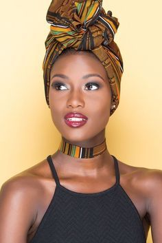 In the headwraps became a central accessory of Black Power's rebellious uniform. Headwrap, like the Afro, challenged accepting a style once used to shame African-Americans. African Beauty, African Women, African Fashion, Ankara Fashion, Scarf Hairstyles, African Hairstyles, Black Girl Magic, Black Girls, Mode Turban