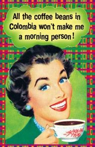 So true!   I just am not and never will be, a morning person.