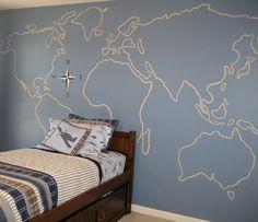 Лучшие дизайнерские находки - Рисунки на стенах детских комнат