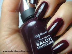 Pat on the Black by Sally Hansen. My fave nail color this year (though my collection is small...)