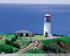 Kilauea Lighthouse, built in 1913 and manned by the Coast Guard and now under the jurisdiction of the Fish and Wildlife Services of the U.S. Department of the Interior.