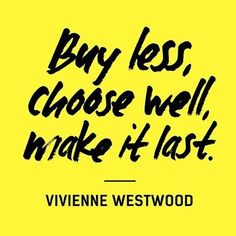 """This week, join people around the world in asking brands #whomademyclothes to show that we care and demand better for the people who make our clothes. Repost via @fash_rev """"Buy less, choose well, make it last"""" — Vivienne Westwood.  Download the 'How to be a Fashion Revolutionary' booklet. It's full of inspiration and ideas about how you can use your voice and your power to transform the fashion industry.  www.fashionrevolution.org/get-involved  #sustainablefashion #fashrev #slowfashion"""